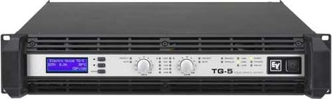 Electro-Voice TG5 Power Amplifier, Touring Grade, Class H, 2 x 1450W @ 4 ohms continuous TG5