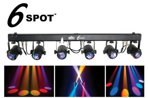 Chauvet Dj 6spot 6 Unit Rgb Led Pin Spot T Bar Fixture