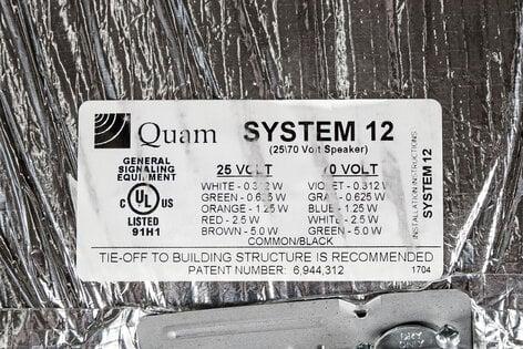"Quam SYSTEM-12 24""x24"" Tile Replacement Speaker System SYSTEM-12"
