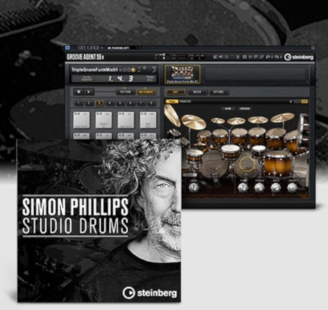 Steinberg SP-STUDIO-DRUMS Simon Phillips Studio Drums VSTSound Set [VIRTUAL]