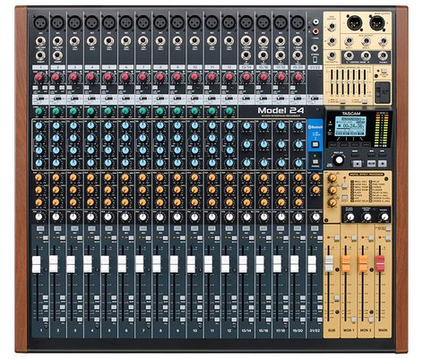 Tascam Model 24 22-Channel Mixer, 24-Track Recorder, 24-Channel Interface