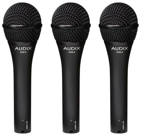 Audix OM2TRIO  3-Pack of OM2 Dynamic Vocal Microphones OM2TRIO