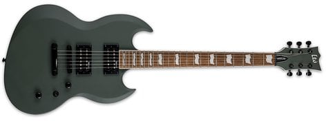 ESP VIPER-256-MGS Electric Guitar, Double Cutaway, Military Green Satin
