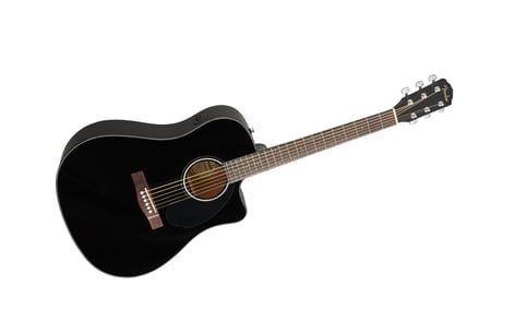 Fender CD-60SCE Black with 12-Month Play 6-String Acoustic-Electric Guitar with 12-Month Fender Play Card CD-60SCE-BLK-PLAY