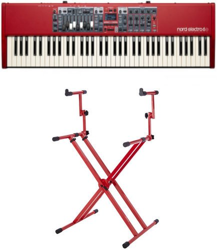 Nord Electro 6D 73 Keyboard Bundle 73-Key Digital Stage Piano with Two Tier X Style Keyboard Stand ELECTRO-6D-SW73-K