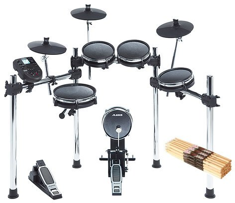 Alesis Surge Mesh with 12-Pairs of Sticks 8-Piece Electronic Drum Kit With Mesh Heads And 12-Pairs Of 5A Drumsticks SURGEMESHKIT-K