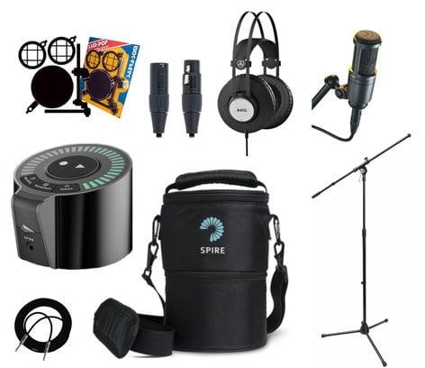 iZotope Spire Studio Recording Bundle Includes Spire Studio, Travel Bag, Micrphone, Headphones, Cables & Stand SPIRE-FCS-BUNDLE-K