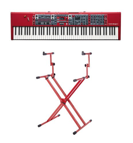 Nord Stage 3 88 Keyboard Bundle 88-Key Digital Stage Piano with Two Tier X Style Keyboard Stand NS3-88-K