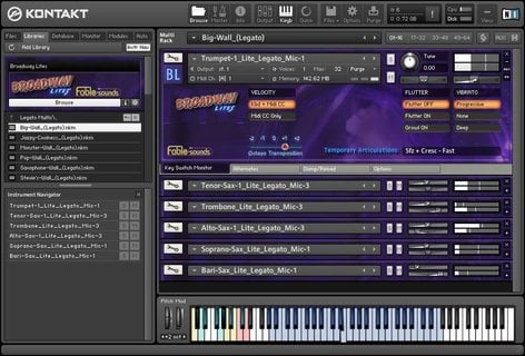 Fable Sounds BROADWAY-LITES-2 0 Broadway Brass & Reeds Sample Library  [download]