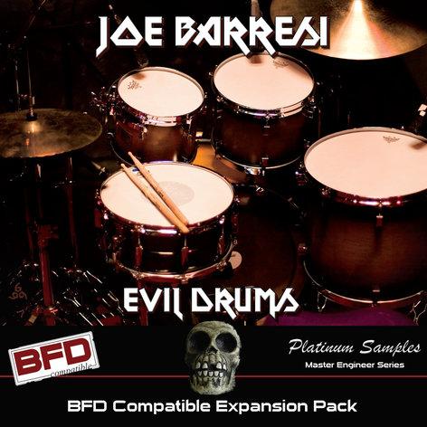 Platinum Samples Joe Barresi Evil Drums Drum Sample Library For BFD  [download]
