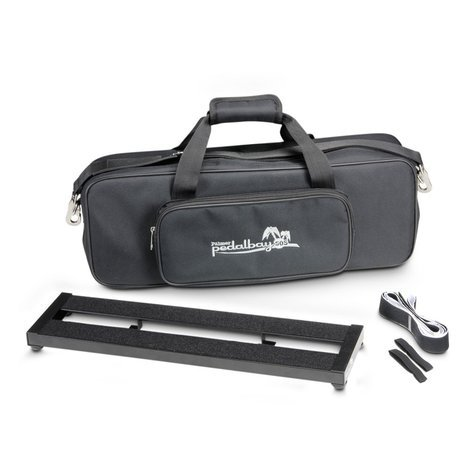 Palmer PEDALBAY50S  Lightweight Compact Pedalboard with Protective Softcase 50cm  PEDALBAY50S