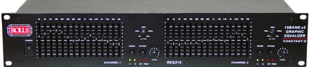 Rolls REQ315  Dual 15-Band Graphic Equalizer w/ Constant Q REQ315