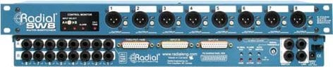 Radial Engineering SW8 Auto Switcher, Line Level, 8 Channels SW8
