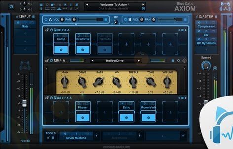 Blue Cat Audio Blue Cat Axiom Guitar/Bass Multi FX & Amp Simulation  [download]