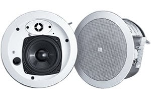"JBL Control 24CT MicroPlus 4"" Ceiling Speaker with Transformer for 70V/100V Systems in White CONTROL-24CT-MICRO+"