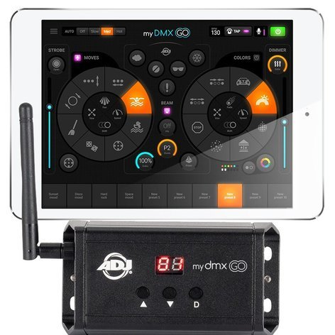 Adj Mydmx Go Lighting Control For Ipad Or Android With Wireless Interface