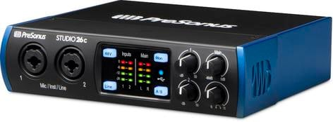 PreSonus Studio 26c 2 X 4 USB-C Audio Interface With Studio One Artist DAW  Software