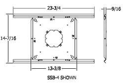 """Quam SSB4 4"""" Speaker Tile Bridge SSB4"""
