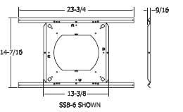 """Quam SSB6 Speaker Support Bridge 8"""" 2pc SSB6"""