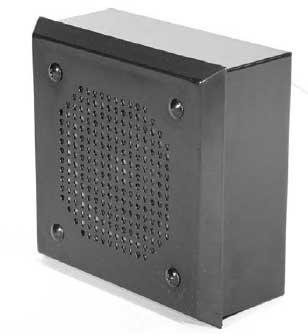 Quam SYSTEM-7-DT System 7DT Black Drive-Thru Speaker SYSTEM-7-DT