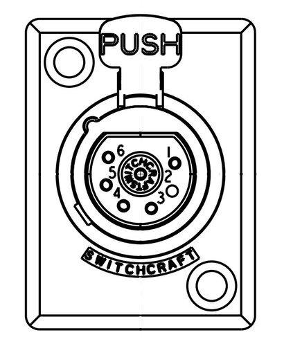Switchcraft D7f 7 Pin Xlrf D Series Panel Mount Connector
