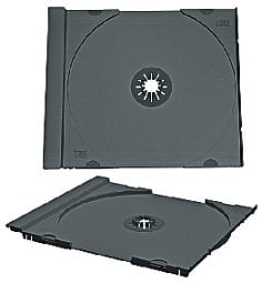 American Recordable Media CD-TRAY/BLACK CD Jewel Tray Only, Black, Unassembled CD-TRAY/BLACK