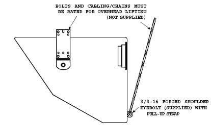 Electro-Voice EVI-12MB-BLK Mounting U-Bracket for EVI-12, BLACK EVI-12MB-BLK