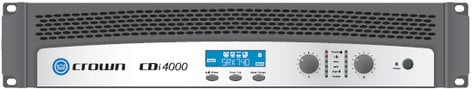 Crown CDI4000 Power Amplifier, Dual Channel, 1,200W @ 4 Ohms/1,000W @ 70V per channel CDI4000