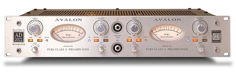 Avalon AD2022 Dual Mono Microphone Preamplifier AD2022