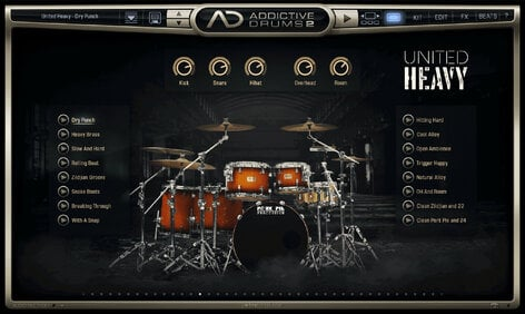 XLN Audio AD2: United Heavy Hard Hitting Drums For Heavy Music [download]