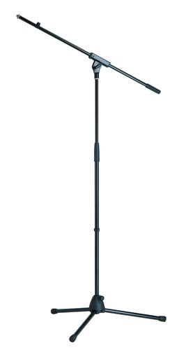 "K&M Stands 27105B 35""-63"" Microphone Stand with 32"" Boom and Tripod Base 27105B"