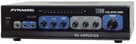 Pyramid PA205 120 Watt Microphone PA Amplifier With 70V Output PA205