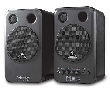 Behringer MS16 2-Way Active Monitor Speakers (Pair) MS16