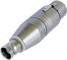 Neutrik NA2FBNC 3-pin Female XLR to BNC Adapter (Wired) NA2FBNC