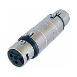 Neutrik NA3FF 3-Pin XLR-F to 3-Pin XLR-F Wired Female Gender Adapter NA3FF