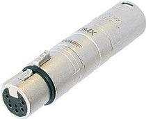 Neutrik NA3M5F 3-pin Male XLR to 5-pin Female XLR Connector, Wired NA3M5F