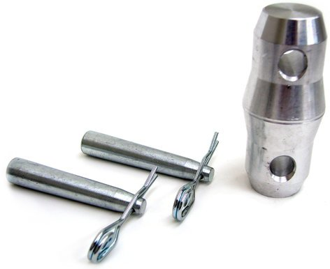 Global Truss COUPLER Double-Ended Conical Coupler with Coupler Pin and R-Clip COUPLER