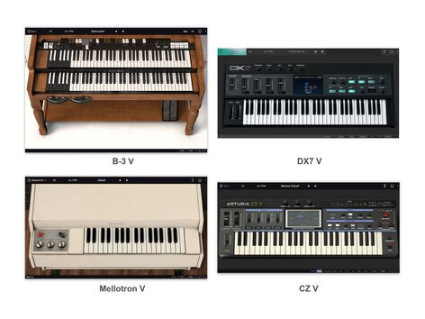 Arturia V Collection 7 Virtual Vintage Keys And Synth Bundle Version 7  [Virtual]