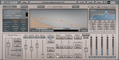 Waves IR360 Surround Convolution Reverb Plugin IR360