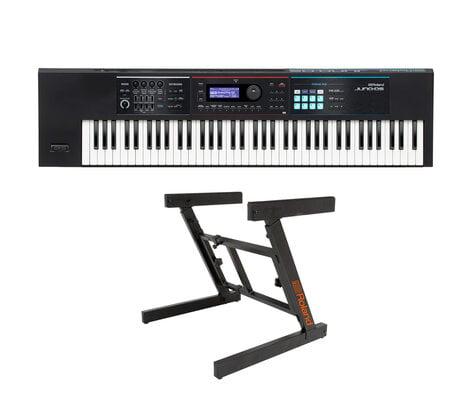 Roland JUNO-DS76 Synthesizer Bundle Synthesizer Bundle With KS-10Z Keyboard  Stand