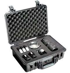 Pelican Cases PC1500-BLACK Medium Black Case with Foam Interior PC1500-BLACK