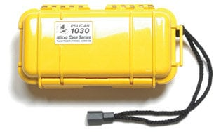 Pelican Cases 1030 Solid Yellow Micro Case PC1030-YELLOW