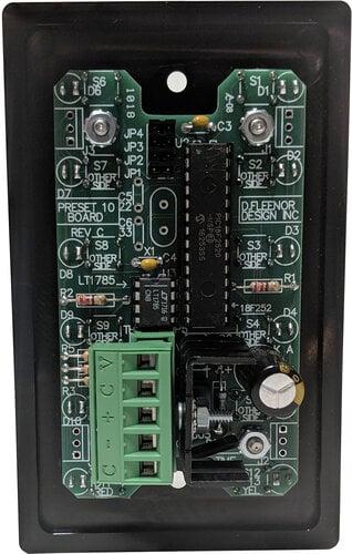 Doug Fleenor Designs PRE10-A 10-Button Wall Mounted DMX Controller