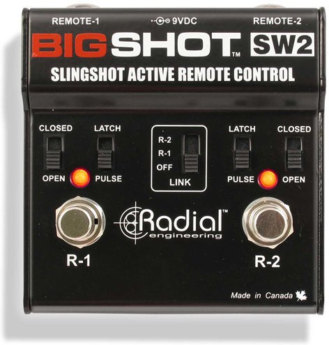 Radial Engineering BIGSHOT-SW2 Slingshot, Amp Channel Switching Remote Control BIGSHOT-SW2