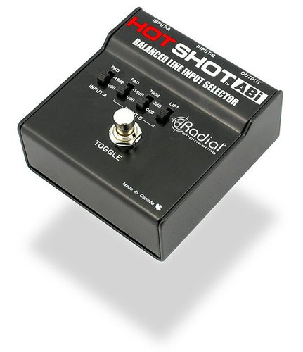 Radial Engineering HOTSHOTABI Dual to Single XLR Line Input Selector HOTSHOTABI