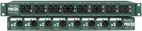 "Radial Engineering ProD8 19"" Passive Direct Box with 8 Channel, 1RU PROD8"