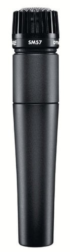 Shure SM57-LC Unidirectional Dynamic Cardioid Microphone with Stand Adapter and Pouch SM57LC