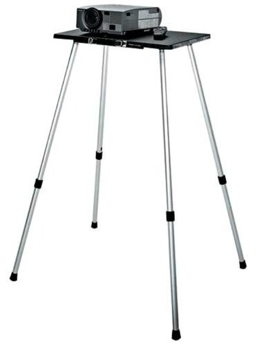 "Da-Lite 42067 Deluxe Project-O-Stand with Telescoping Aluminum Legs and 17"" x 25"" Shelf 42067"