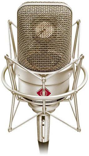 Neumann TLM 49 Cardioid Condenser Studio Microphone with Shock Mount in Satin Nickel Finish TLM49