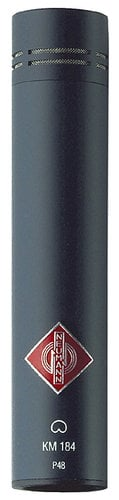 Neumann KM 184 mt Cardioid Condenser Microphone in Matte Black Finish with K40 Capsule and Accessories KM184-BLACK